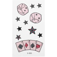 10pcs Dice Star Poker Temporary Tattoo Stickers Waterproof Body Art Decal