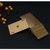 1Set Playing Cards Poker with Plastic Container Wholesale High Quality With Wooden Box Christmas Gift 54 Cards Board Game Poker
