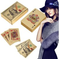 24k Gold & Silver Plated Poker Playing Cards Gilded Foil Poker Cards Gift