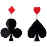 Fashion Poker Spades Clubs Acrylic Drop Earrings Women Creative Jewelry