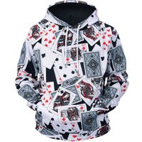 Hoodies Men 3D Poker All Over Print Hooded Hoodie Tracksuit Long Sleeve Crewneck Hoodie Sweatshirt Clothing for Men Streetwear