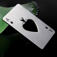 Poker Card Design Stainless Steel Bottle Soda Beer Cap Opener