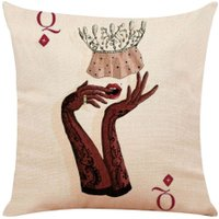 Poker Printed Pillowcase Cotton Linen Pillow Cover Car Home Throw Pillows/1