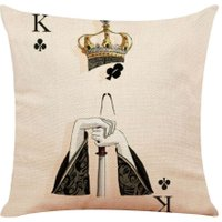 Poker Printed Pillowcase Cotton Linen Pillow Cover Car Home Throw Pillows/3