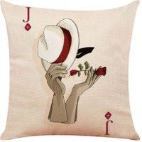 Poker Printed Pillowcase Cotton Linen Pillow Cover Car Home Throw Pillows/5